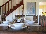 Black Mountain, Farmhouse Main Dining Table, closeup