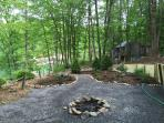Added in 2015 lush landscaping and fire pit