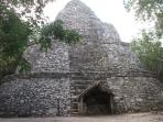 Nearby archaeological sites to visit in one day: Cobà Pyramid
