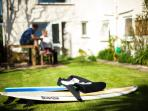 Why not have a surfing lesson when you stay with us?