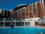 Heated swimming pool, free for my guests. (payable sauna and hot-tub €15/pppw) in Plagne Bellecote.