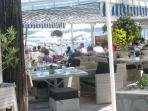 One of the many restaurants on the marina