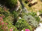 Angolo soleggiato del giardino