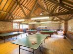 You also have access to a well stocked games room inc. snooker, pool,table tennis and table football