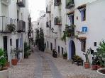 A  street in Peñiscola