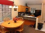 Kitchen and dinning area.