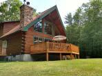 Modern Log Home on Private Lake ATV/Hiking Trails