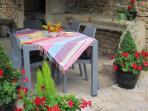 Enjoy shady covered dining
