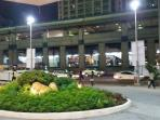 Well lighted MRT Station right in front of the apartment building.