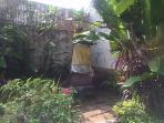 Balinese temple in garden