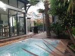Mini-piscine/spa chauffée à 32° en HS et 28° en été
