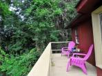 Chill out on the rear deck w morning coffee or a cold beer