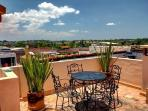 Shared sunny terrace offers gorgeous sunsets for you to enjoy