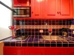 Custom Mexican tiles in Kitchen