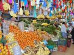 A place of colour and vibrance: the Artisans' Market, 1 block away