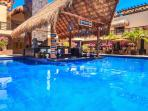 The only Swim Up Bar in Playa with FOOD AND BEVERAGE SERVICE