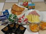 Guests can choose from a range in our Continental breakfast selection/menu