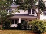 Looks like an old-time farmhouse from the street, great walking neighborhood