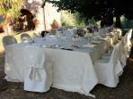 Small wedding dinner
