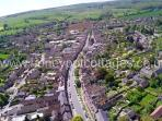 Aerial view of the medieval Cotswold town of Chipping Campden