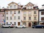 Facade of the apartment house- in delightful Mala Strana - U Luzickeho Seminare