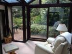 Relax in the conservatory, drinking tea, coffee or wine watching the birds.