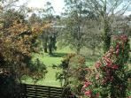 Peaceful views from the rear balcony of Valley View Cottage Warragul.