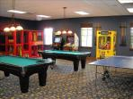 The Clubhouse has a large game room for the young...and young at heart.