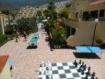 Games area - Giant chess, ping pong, pool and mini golf.