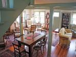 Large open floor plan in living & dining room.
