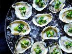 ... fresh oysters from the local farms ...