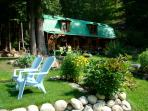 Your cottage in the woods: relax in morning sun or afternoon shade at The Cottage in Hills