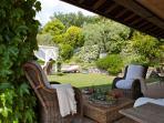 Patio and Garden in Resort