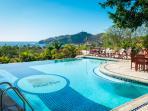 Main level pool at Pelican Eyes resort