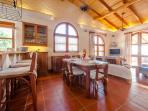 Spacious kitchen and lofty ceilings- the home is generous is space