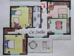 Ca' Stella apartment's map
