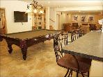 Huge Rec Room, Regulation Billiard Table, HDTV, Bar, Full Fridge, Ice-Maker, Microwave, Full Bar