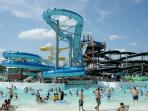 Schlitterbaun in New Braunfels is about 15 miles away! Go enjoy those waterslides!