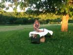 Spoil yourself with a massage in our garden or a perfect meal cooked by our chef