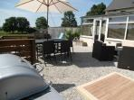 Gas BBQ on south facing private patio with views of surrounding countryside