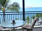 Lanai ocean front dining or relaxing for 4 persons