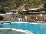 Top pool set into the mountain