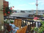 Balcony with outdoor dining to take in the views over West Perth