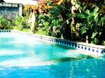 Large Swimming Pool is 3 meters from the villa door