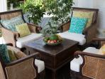 Relax on the veranda in our comfortable, over sized lounges chairs.