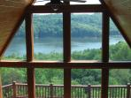 View of the lake from the bridge on the 4th floor that divides both the Sweet Heart's & Twin Lakes.