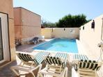 Private pool at villa Roberto