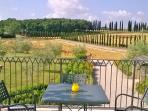 View of tuscan countryside from 'belvedere' terrace of the pool area