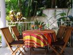 La table pour déjeuners créoles