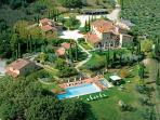 Casa Cornacchi aerial view